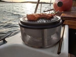 Grill an Deck