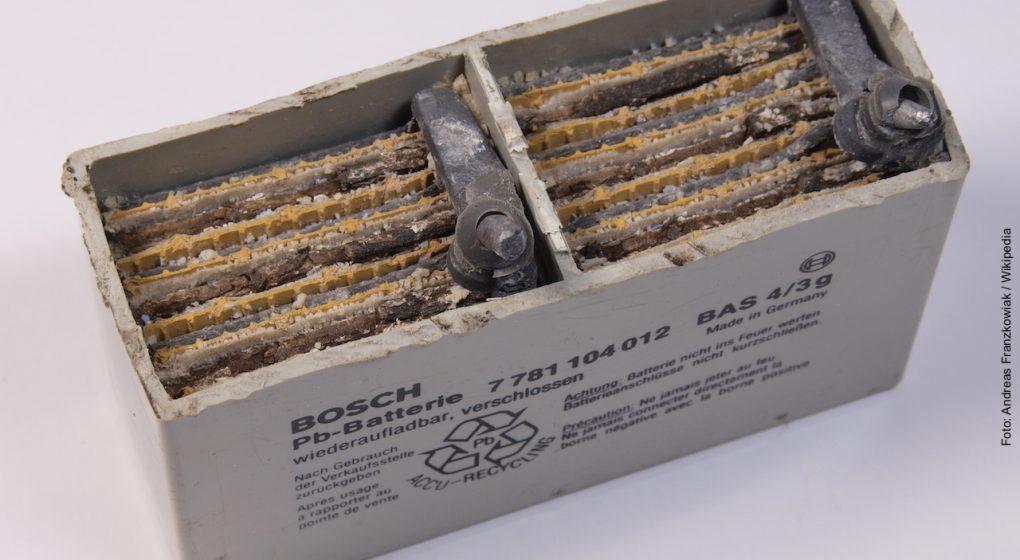 Aufbau einer Bleibatterie